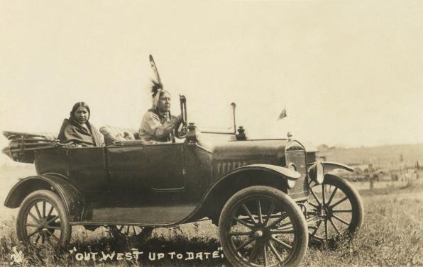 native americans in car